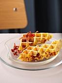 Waffles with chorizo