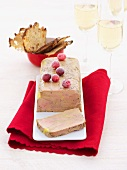 Goose liver terrine with cranberries