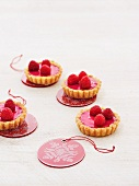 Raspberry tartlets for Christmas
