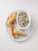 Rillettes of sardines, goat's cheese, shallots and herbs