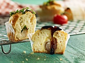 Muffins filled with onion and garlic