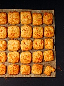 Parmesan shortbread sprinkled with chili powder