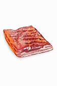 Raw smoked streaky bacon