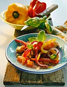 Vegetable stew with peppers, squash and onions (Italy)