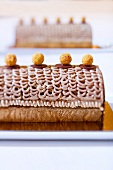 Chestnut roulade with mandarins