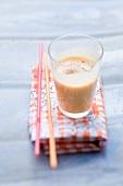 A nectarine milkshake
