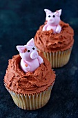 Piglet cupcakes