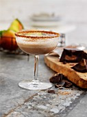 Pear and chocolate drink
