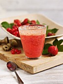Strawberry and blackcurrant cooler