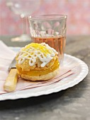A lemon whoopie pie