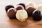 Assorted home-made chocolate truffles