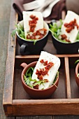 Quark terrine with sun-dried tomatoes and rocket