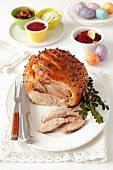 Studded roast pork for Easter
