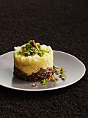 Potato timbale with oxtail ragout