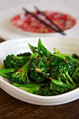 Broccoli with ginger and soy sauce