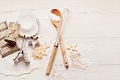 A still life of baking utensils
