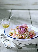 Potato salad with celery, radishes, onions and chervil & lemon dressing