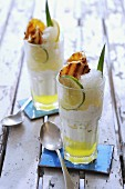 Lime granita with grilled pineapple and Limoncello