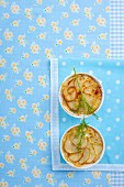 Small potato gratins with fennel leaves