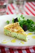 Savoury pea cake with ham