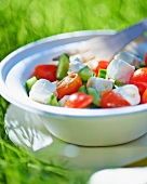 Cucumber and tomato salad with feta