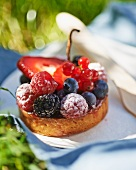 Summer berry tartlet