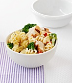 Pasta salad with chicken and broccoli