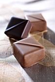 Milk and dark chocolates