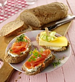 Wholemeal baguette with linseeds