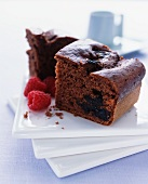 Chocolate cake with prunes