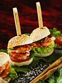 Mini Burger with Crayfish