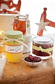 Homemade Edible Gifts in Jars; Preserves and Lemon Curd
