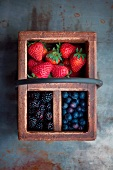 Fresh Berries in a Vintage Box