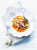 Zuppa di fagioli e pasta (bean soup with pasta, Italy)