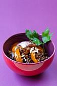 Quinoa muesli with raisins and almonds
