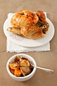 Chicken baked with lemon and onion