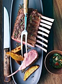 Rack of lamb with herb pesto