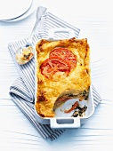 Chard and kohlrabi lasagne