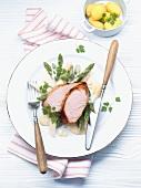 Roast turkey with asparagus and chervil