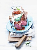 Rack of lamb with a herb sauce