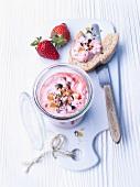Strawberry and honey spread