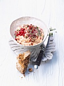 Lobster spread with cranberries