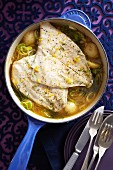Fish stew with potatoes and leek