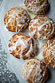 Cinnamon danish with sugar icing