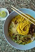 Khai Soi (Thai curried noodle soup)