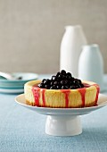 Cheese cake with cherries