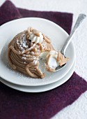 Mont Blanc (chestnut mousse with cream, France)