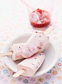 Healthy swaps for kids - Creamy berry iceblocks