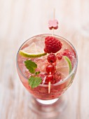 Summer berry sangria with lime