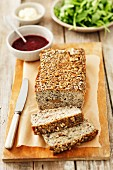 Pork and mushroom meatloaf with sunflower seeds